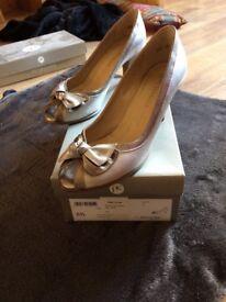 Peter Kaiser Peep Bow Toe Shoes