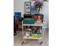 Marble and Brass / Gold Bar Trolly - Excellent Condition