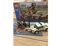 Lego City police car and robbers