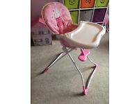 Graco Pink Bunny High Chair