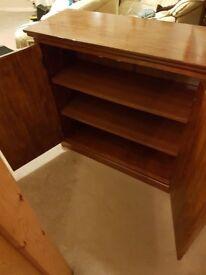 Dsrk wood mahogany coloured cabinet