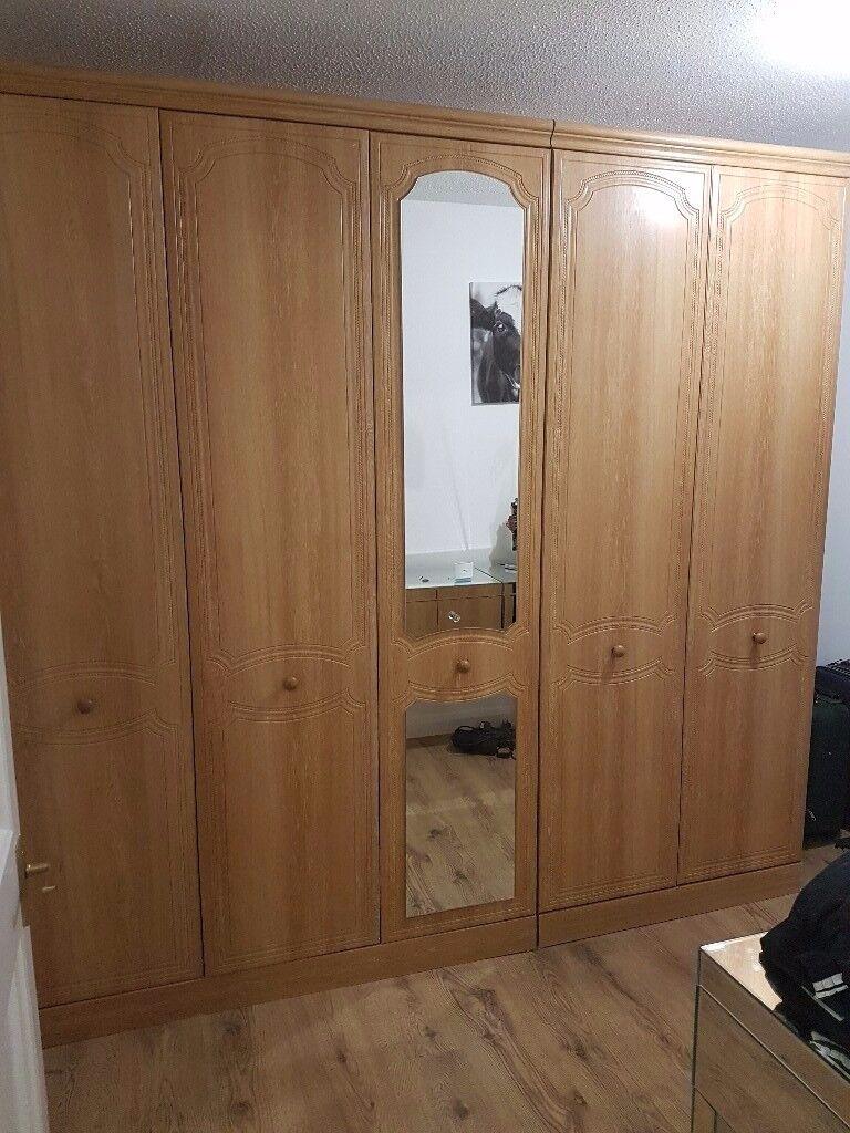 Five door wardrobe