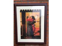 Beautiful large framed Vettriano print - Back Where You Belong