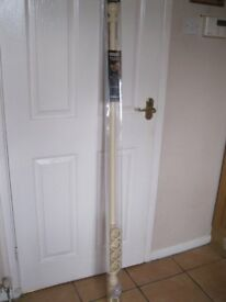 Cream wood curtain pole