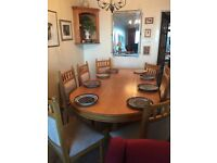 """Oak dining table, solid oak, 42"""" x 78"""" Excellent condition."""