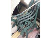 Bench ends cast iron vintage garden