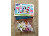 Peppa pig and mr tumblr fuzzy felts to dress characters up
