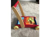 ELC baby / toddler walker with blocks