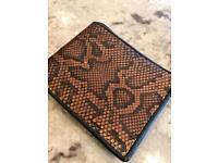 Wallet genuine python snake skin