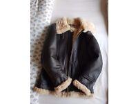 Genuine ladies sheepskin flying jacket