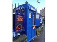 Police Box Coffee Kiosk Shop Tardis Rare Opportunity Available Doctor Who Glasgow Finnieston City