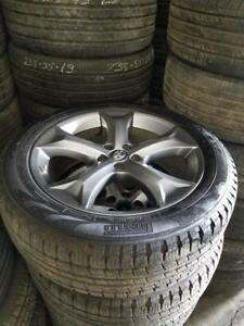 245 50 20 Pirelli Scorpion STR 100% tread on OEM Toyota Venza / Highlander alloys 5 x 114.3 / TPMS