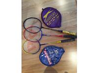 Badminton Raquets x 3