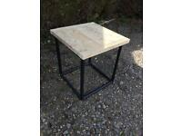 Industrial end table or coffee table