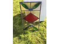 Stained glass window panel 35 x 58 cm Free local delivery