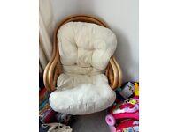 Vintage Wicker Swivel Chair