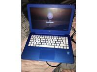 Blue hp laptop