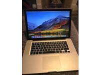 "Apple MacBook Pro 15.4"" 8GB RAM 512GB SSD Intel i7 2.66GHz"