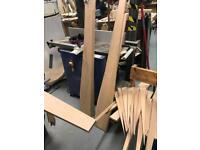 Solid hardwood oak offcuts timber