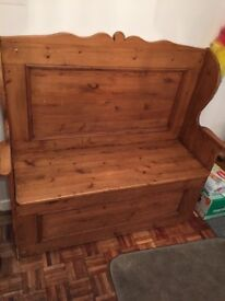 Old church wooden pew brilliant for storage