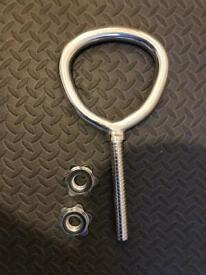 """Adjustable Kettlebell Handle with 2 spinlocks. For 1"""" plates No weights included"""