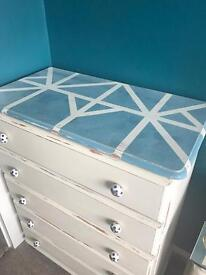 MUST GO Previously Upcycled chest of drawers