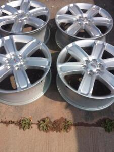 BRAND NEW TAKE OFF 2017 CADILLAC  XT5  / SRX  FACTORY OEM  20 INCH ALLOY WHEEL SET OF FOUR WITH SENSORS