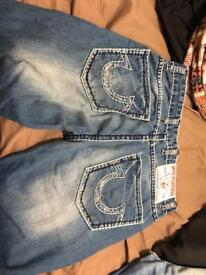 True religion jeans 33 waist 38 length
