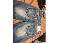 True religion jeans 33 waist 38 length