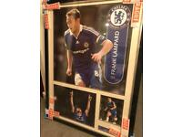 Signed Frank Lampard Chelsea framed photo display