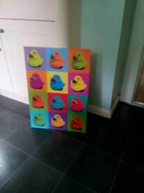 Duck pop art poster board