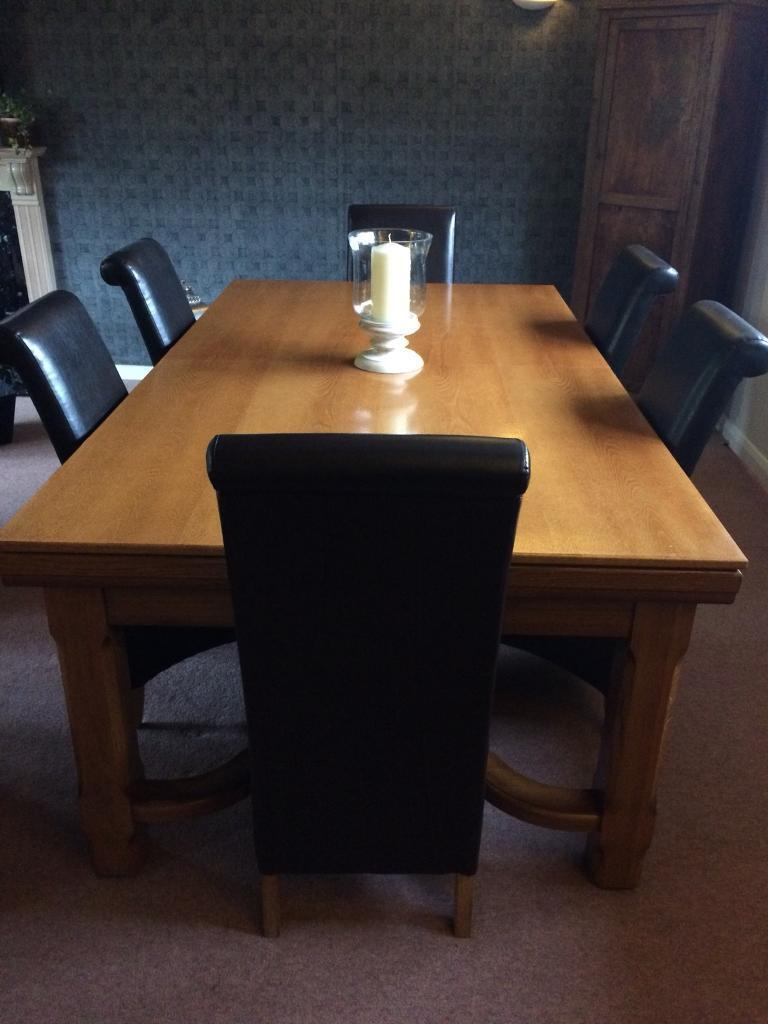 Pool Dining Table 6 Chairs