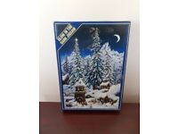 CHRISTMAS WITH THE ELVES - 1000 Piece Jigsaw Puzzle - GLOW IN THE DARK