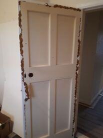 Wooden 4 Panel Internal Doors x 11, 6 (1981x810), 4 (1981x762), 1 (1981x686)