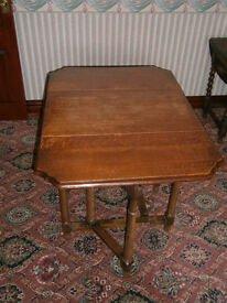 Period gate leg tables and sets of chairs