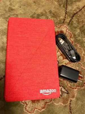 Amazon Kindle Fire 7 Tablet USED ONCE, New Condition! Case & Charger included!