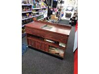 Wooden Counter with 4 Power Sockets - 136cm x 97cm x 54cm - Ideal Shop Counter - Comes with Wheels