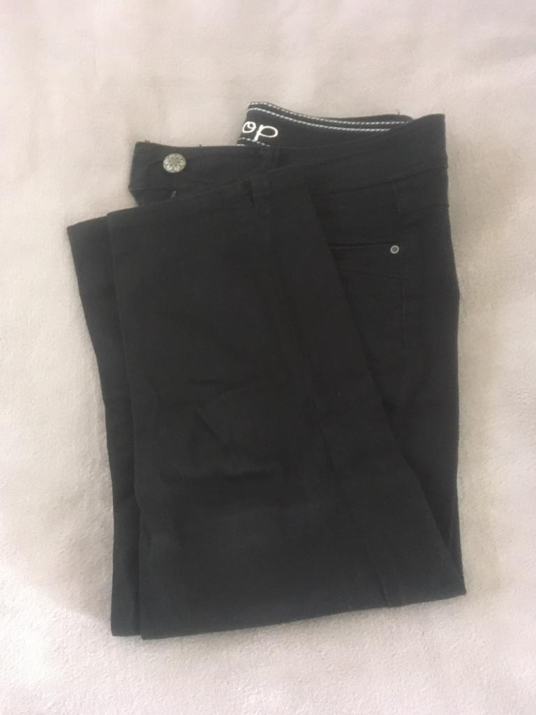 Black cropped jeans, size 10