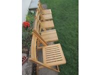 5 folding chairs dining chairs spare wooden chairs, picnic chairs, camping chairs