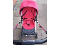 Oyster plush Pushchaire + Carrycot