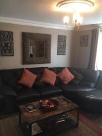 Italian leather signature corner sofa