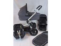 Quinny Buzz BLACK FULL TRAVEL SYSTEM Many Extra's Inc Maxi Cosi Car Seat, Carrycot, Footmuff.