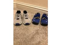 Boys Adidas & Nike trainers size 8 and 8.5