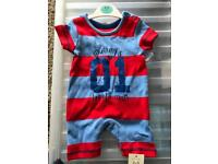 Romper all in one 0-3 months brand new with tags Asda George