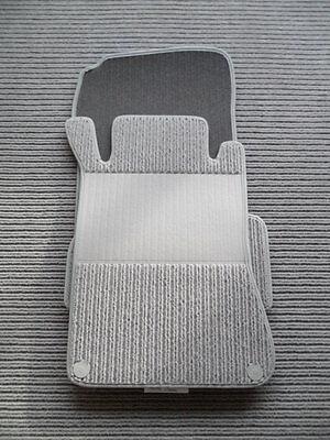 $$$ Lengenfelder Rips Fußmatten für Mercedes Benz CL203 C-Klasse Sportcoupe GRAU