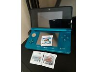 nitendo 3ds with mario kart 7 and 2 more 3d games