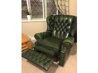 Chesterfield wing chair recliner