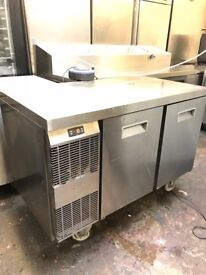Electrolux commercial bench freezer, two doors under counter freezer