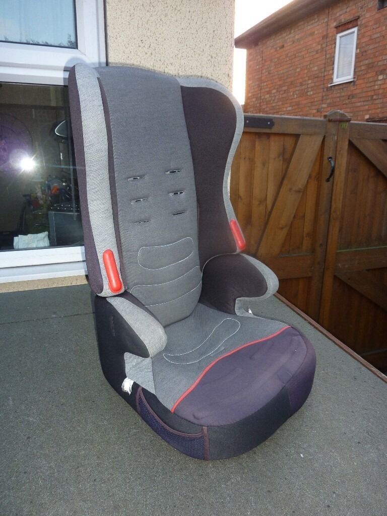 Kids car booster seat with back.