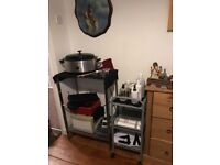 Hot stones heater with mini towel heater plus trolley
